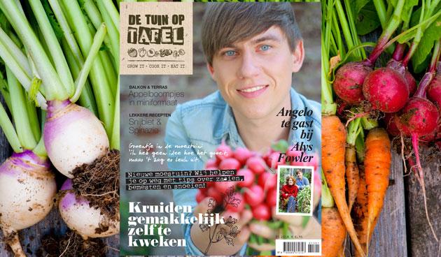 Nieuw magazine de tuin op tafel tuinseizoen - Tuin ontwerp tijdschrift ...